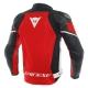 Blouson en cuir Dainese Racing 3 rouge/blanc/noir