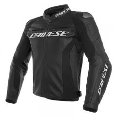 Blouson en cuir Dainese Racing 3 - Noir/Noir/Noir