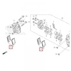 Plaquettes de Frein Avant Honda 06455-MKN-D51