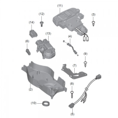 Système d'ouverture du Smart Top-box Honda 35L