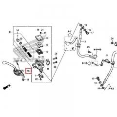 Levier de frein Honda 53170-MJW-J01