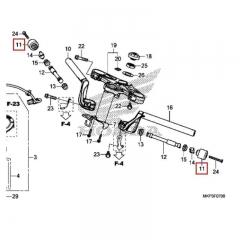 Embout de guidon Honda 53104-MGZ-J00