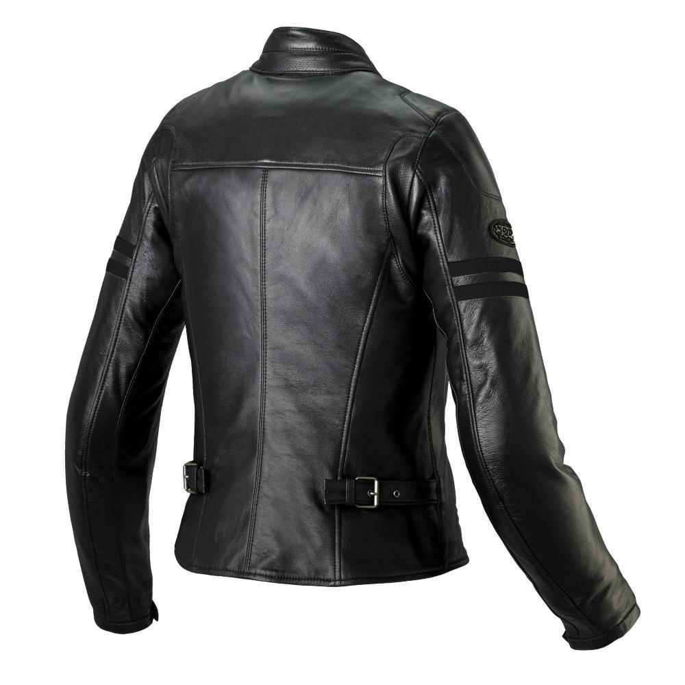 blouson cuir spidi ace noir femme japauto accessoires equipement pilote pour moto et scooter. Black Bedroom Furniture Sets. Home Design Ideas
