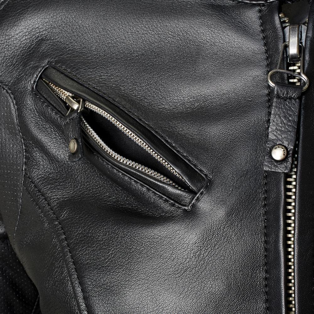 blouson cuir spidi ace noir femme japauto accessoires. Black Bedroom Furniture Sets. Home Design Ideas