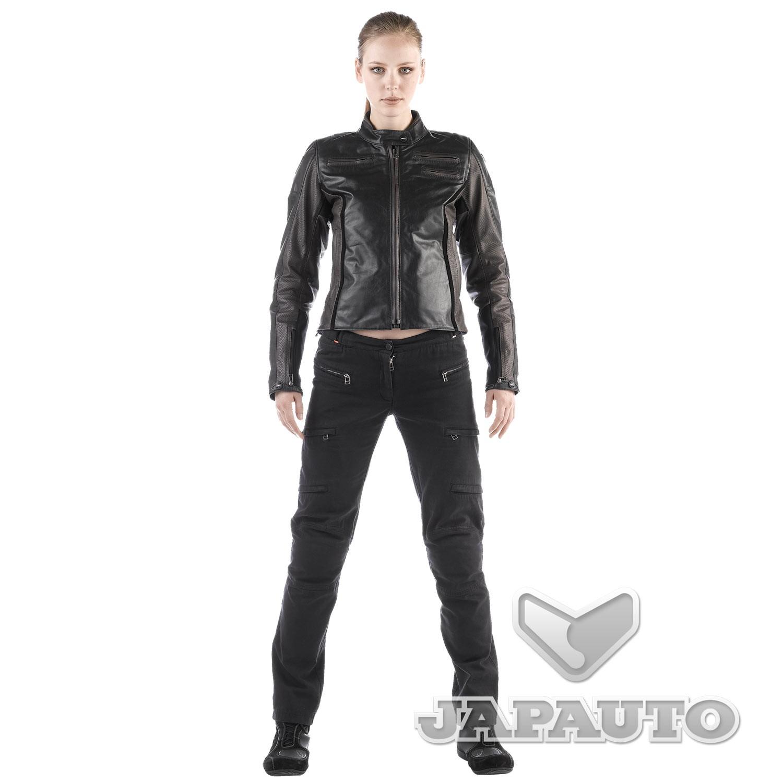 blouson cuir dainese arwen noir marron femme japauto accessoires equipement pilote pour moto. Black Bedroom Furniture Sets. Home Design Ideas