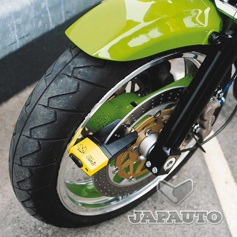bloc disque abus quick noir jaune fluo japauto accessoires equipement pilote pour moto et. Black Bedroom Furniture Sets. Home Design Ideas