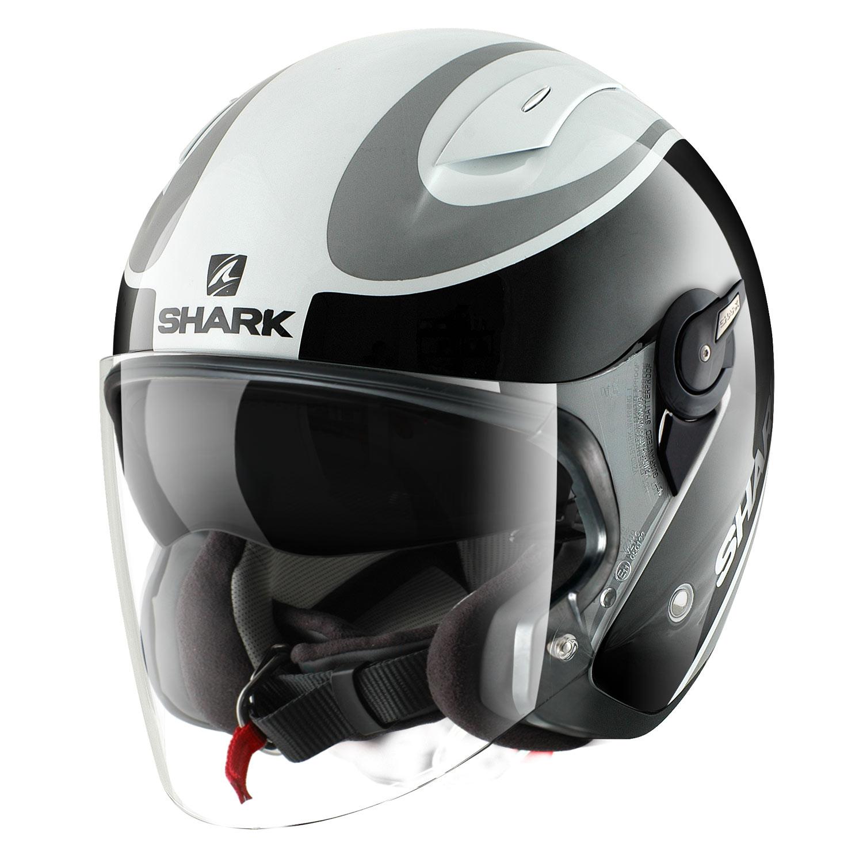 casque jet shark rsj 3 fastline argent japauto accessoires equipement pilote pour moto et. Black Bedroom Furniture Sets. Home Design Ideas