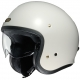 Casque Shoei JO Blanc de 3/4 face