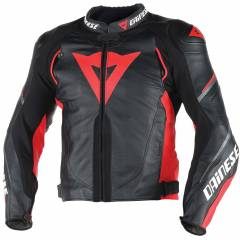 Blouson Cuir Dainese SUPER SPEED Noir/Rouge/Anthracite