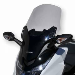 Pare-brise Ermax +10cm Gris pour Forza 125 Honda en vue de 3/4