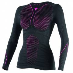 T-shirt Dainese D-CORE THERMO LS Lady Noir de face
