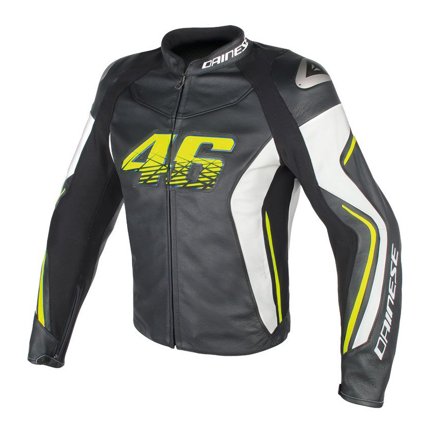 blouson dainese vr46 d2 blouson dainese cuir moto japauto. Black Bedroom Furniture Sets. Home Design Ideas