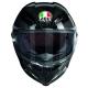 Casque Intégral AGV Pista GP R – Glossy Carbon de face