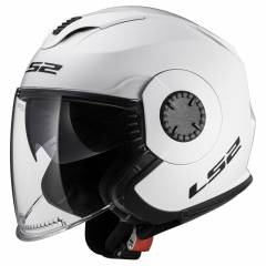Casque LS2 OF570 Verso Solid Blanc de face
