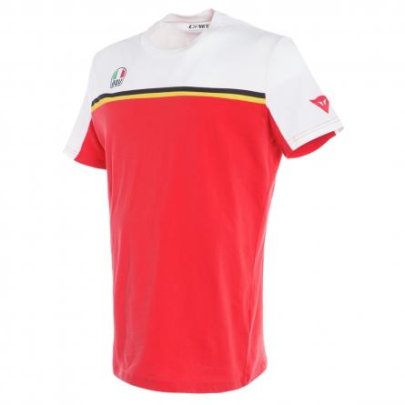 T-shirt Dainese Fast Blanc/Rouge devant