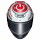 Casque Shoei NXR Marquez Power-up TC1 de face