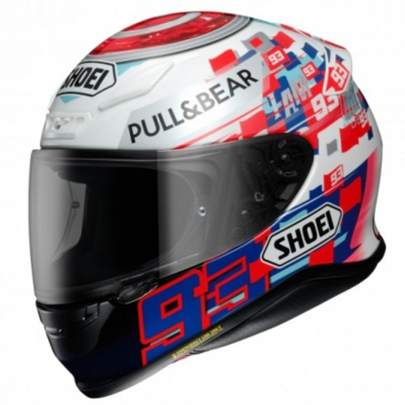 Casque Shoei NXR Marquez Power-up TC1 profil gauche
