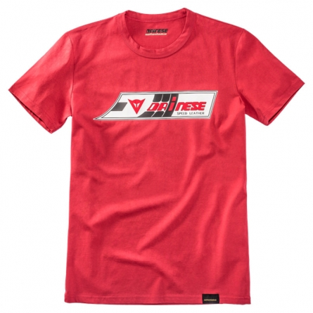T-Shirt Dainese Speed-Leather Rouge