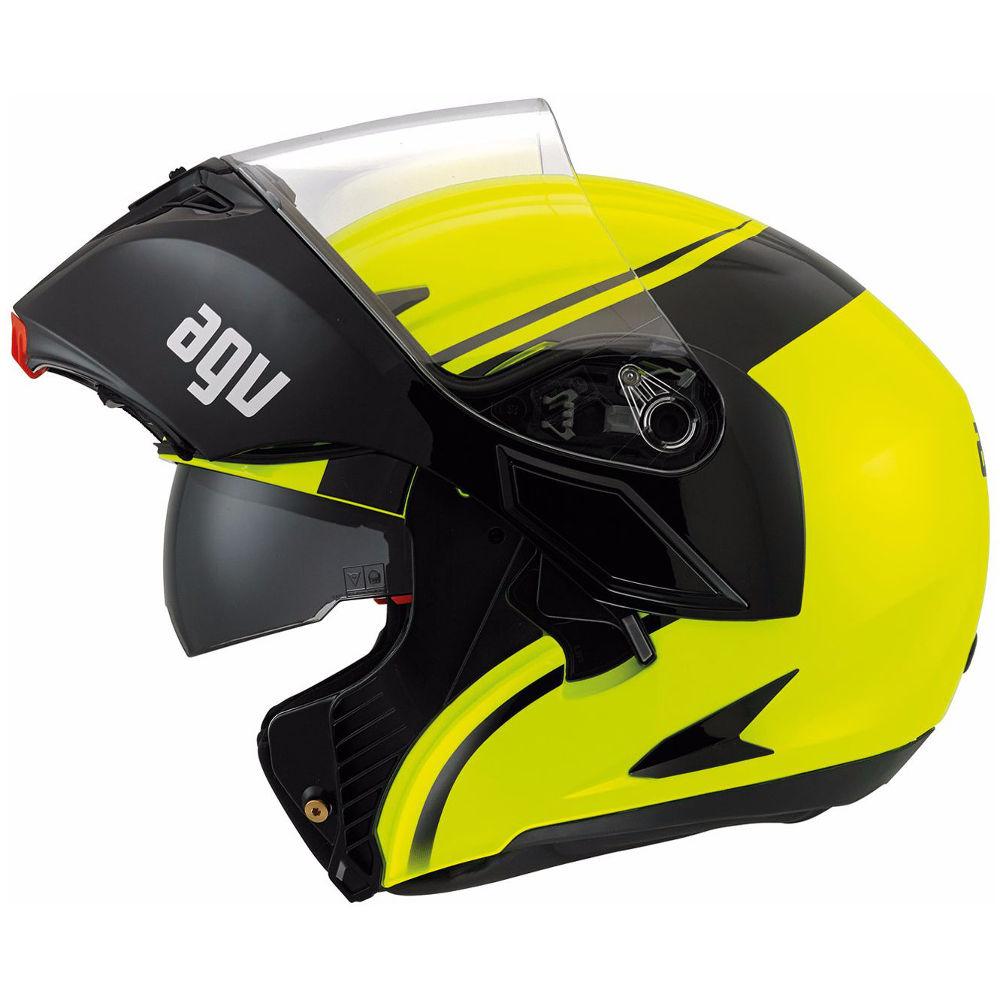 Casque agv compact st course noir jaune japauto - Casque moto course ...