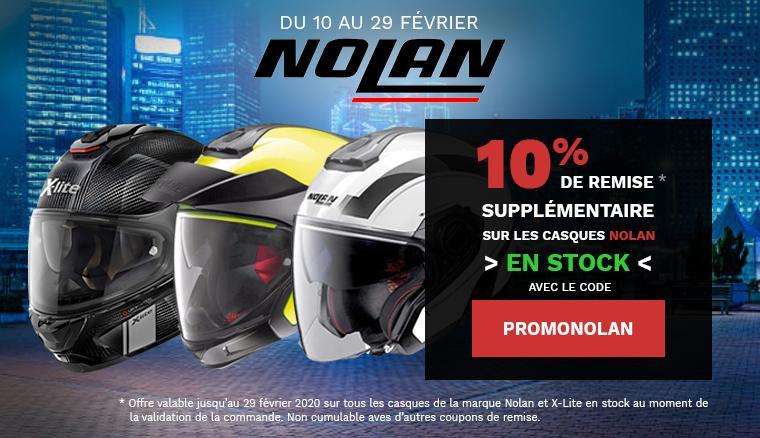 10% de remise sur les casques Nolan