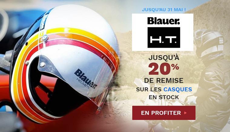 Casque Blauer HT : jusqu'à 20% de remise sur tous les casques en stock jusqu'au 31 mai