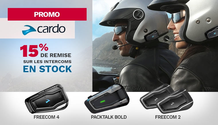 Promotion sur les intercoms Cardo