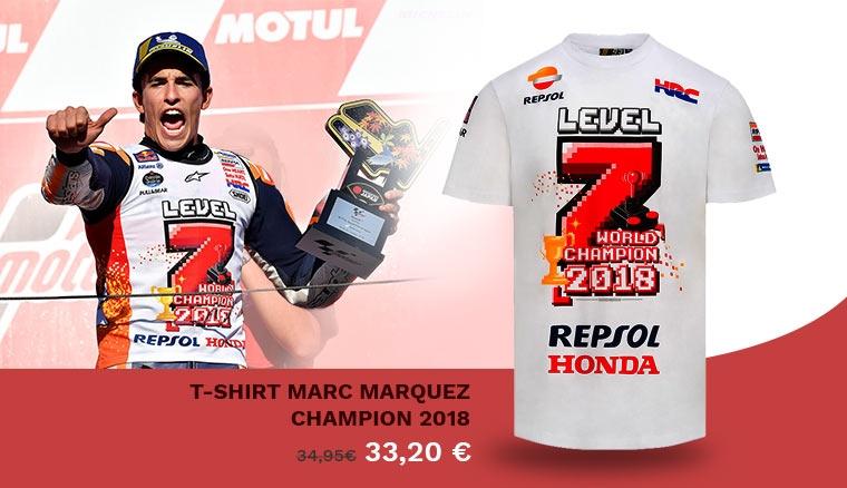 T-shirt Marquez World Champion Level 7 2018
